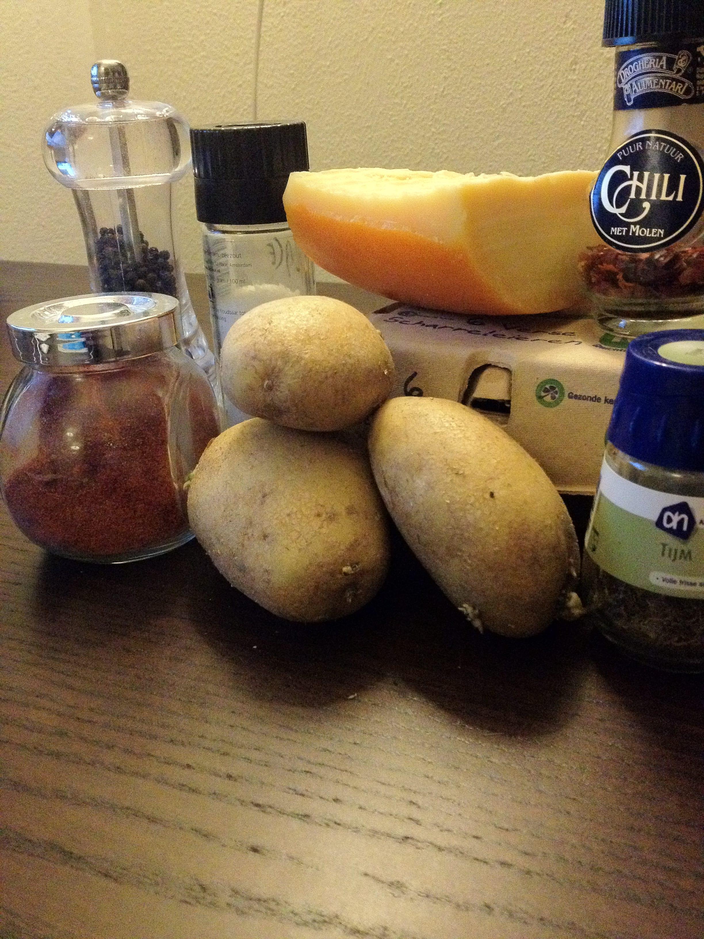 Zelfgemaakte aardappelkoek