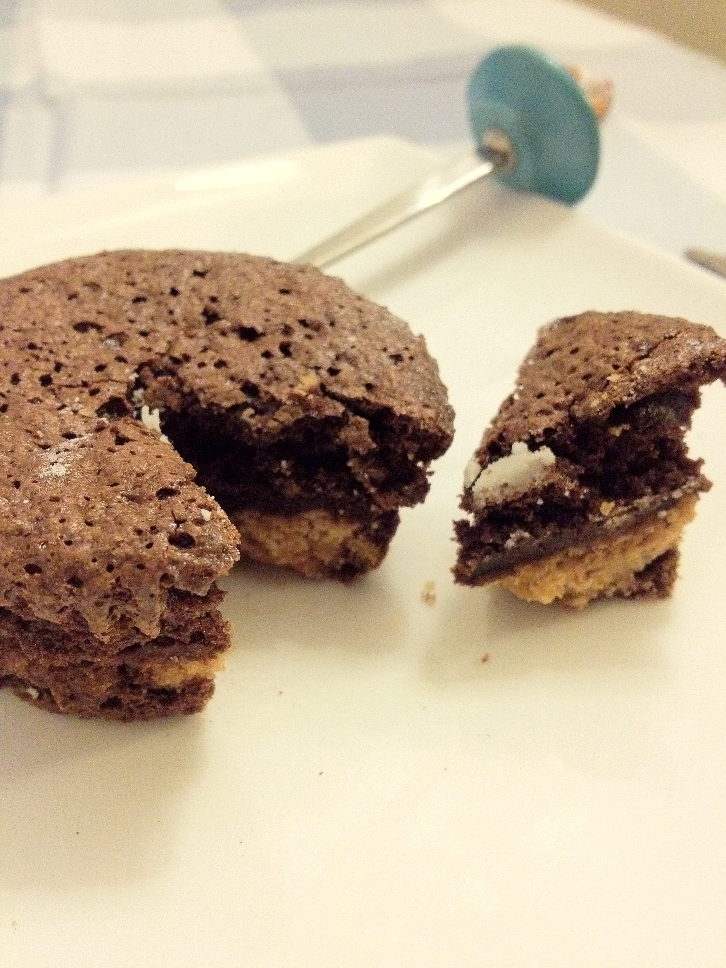 Brownies met chocolate chip cookies