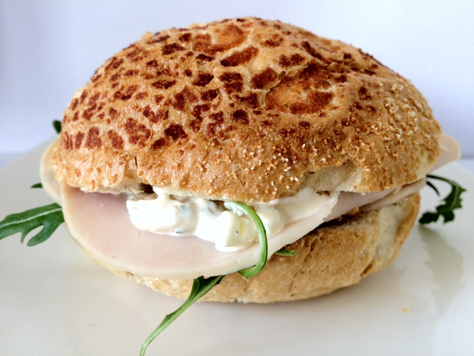 Sandwich met kalkoen en dragonmayonaise