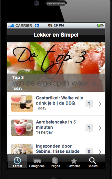 De Lekker en Simpel App is nu beschikbaar