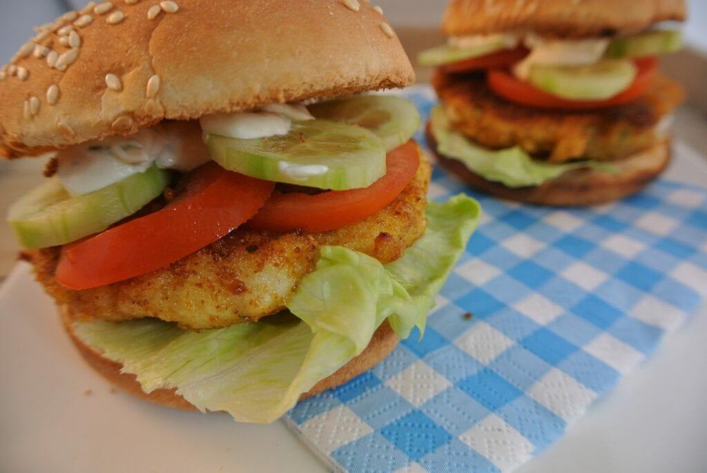 Zelfgemaakte visburger