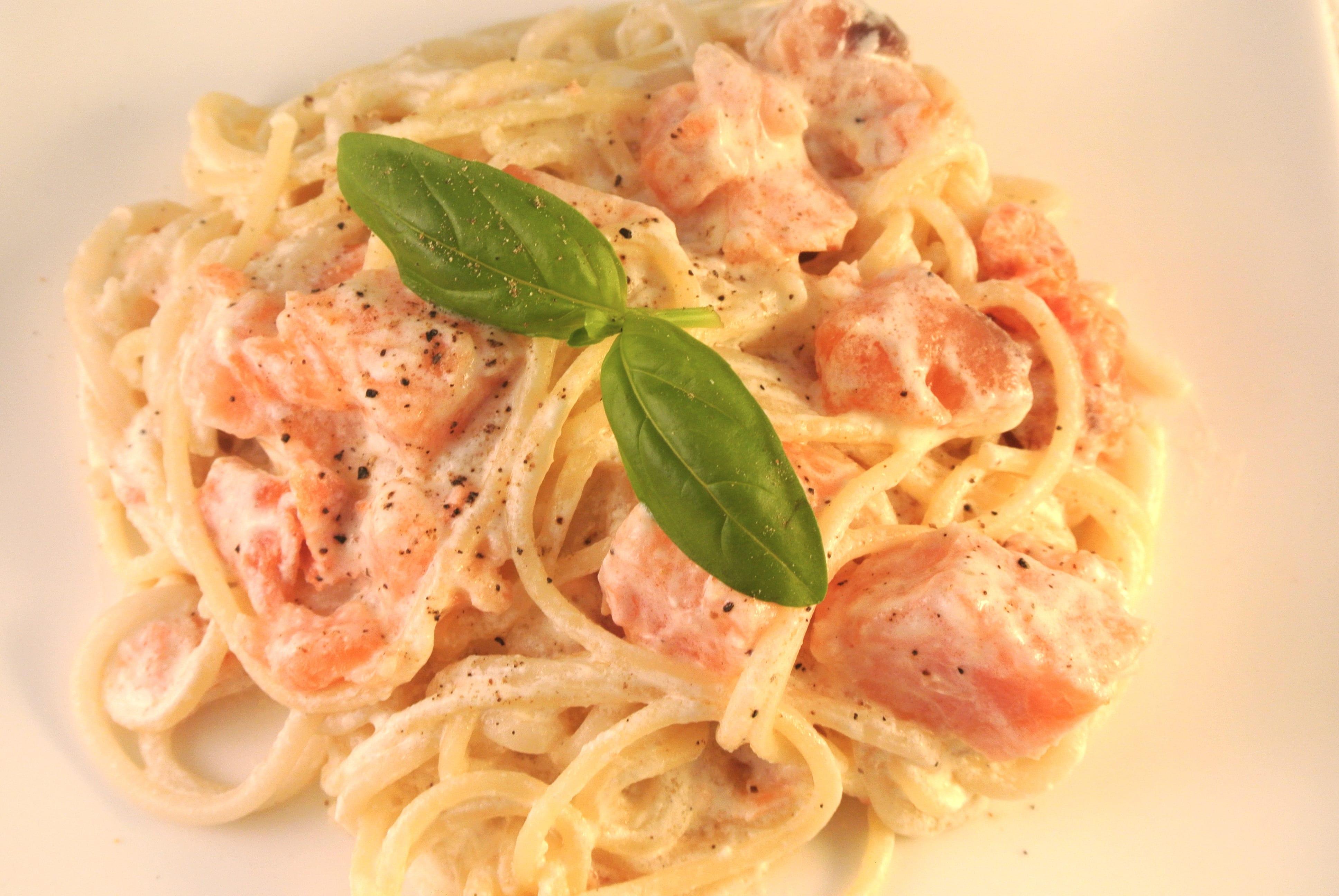 Ingezonden door Olivier: Romige pasta met zalm