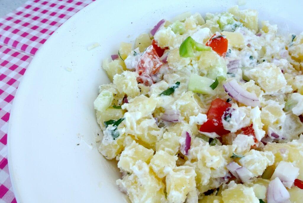 Mediterraanse aardappelsalade