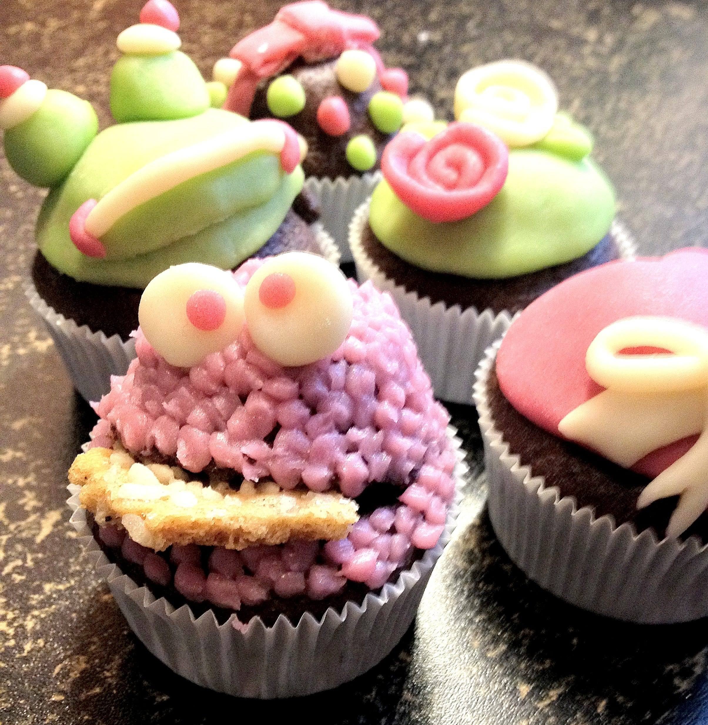 Cupcakes, lastig te eten