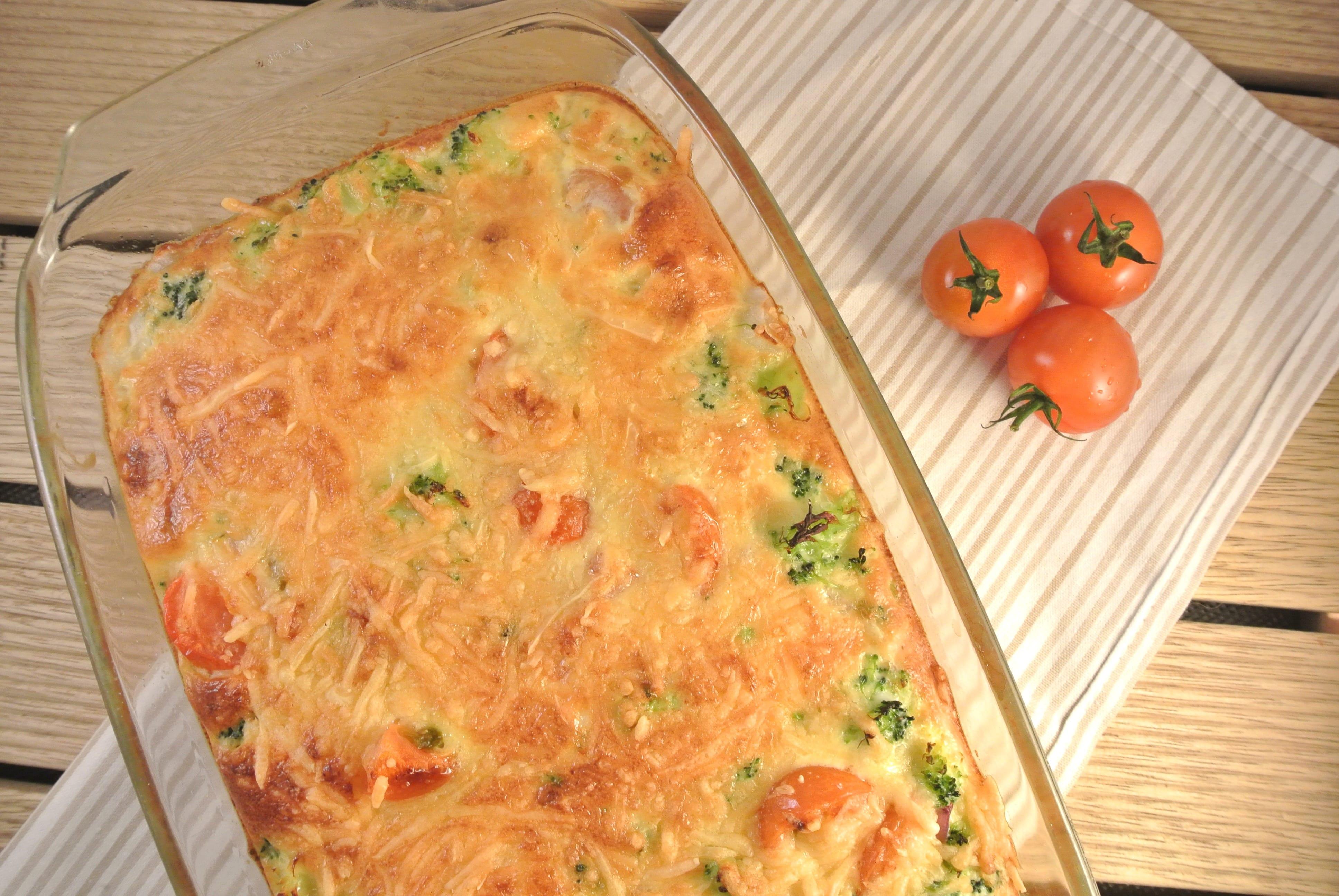 Broccoli frittata uit de oven
