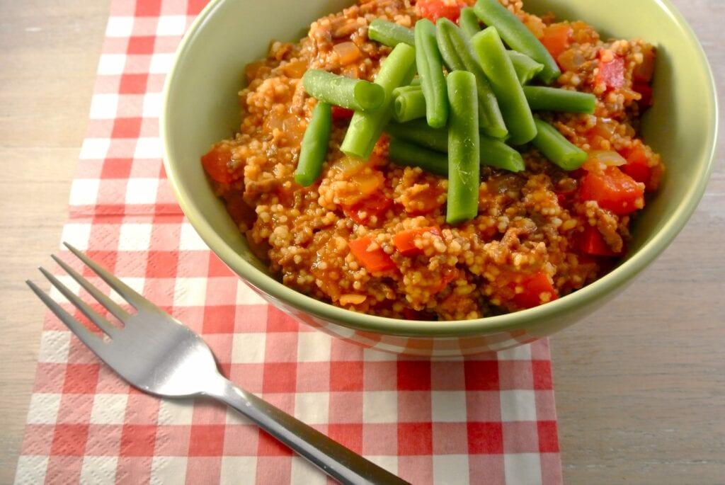 couscous met gehakt