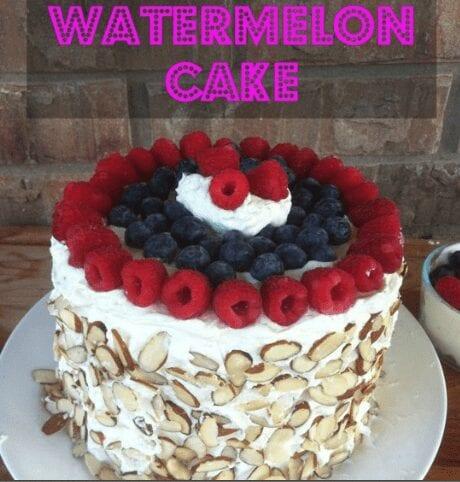watermeloen taart