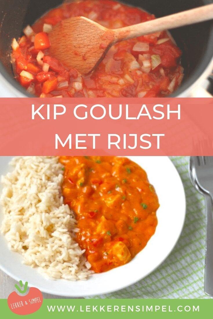 kip goulash met rijst
