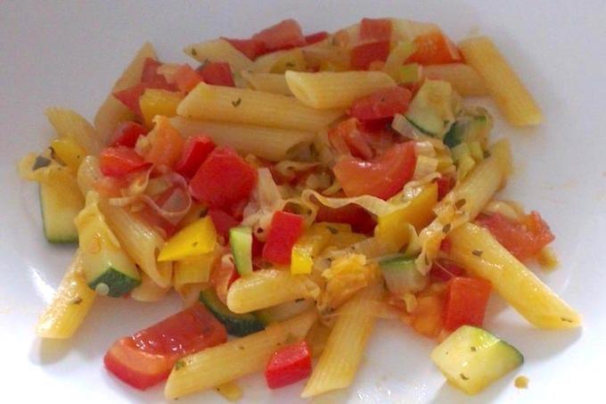 Pasta met veel groenten