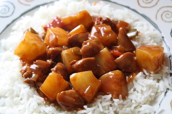 Ingezonden door Miranda – rijst met kip en ananas