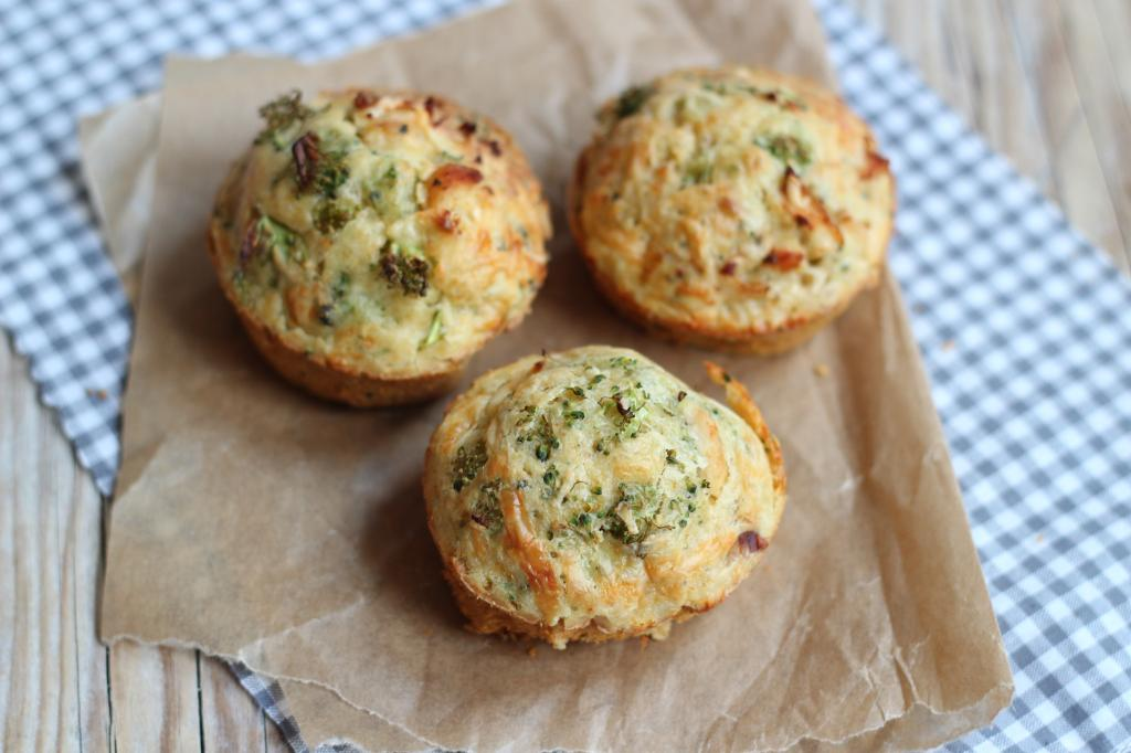 hartige muffins met broccoli en kip - lekker en simpel