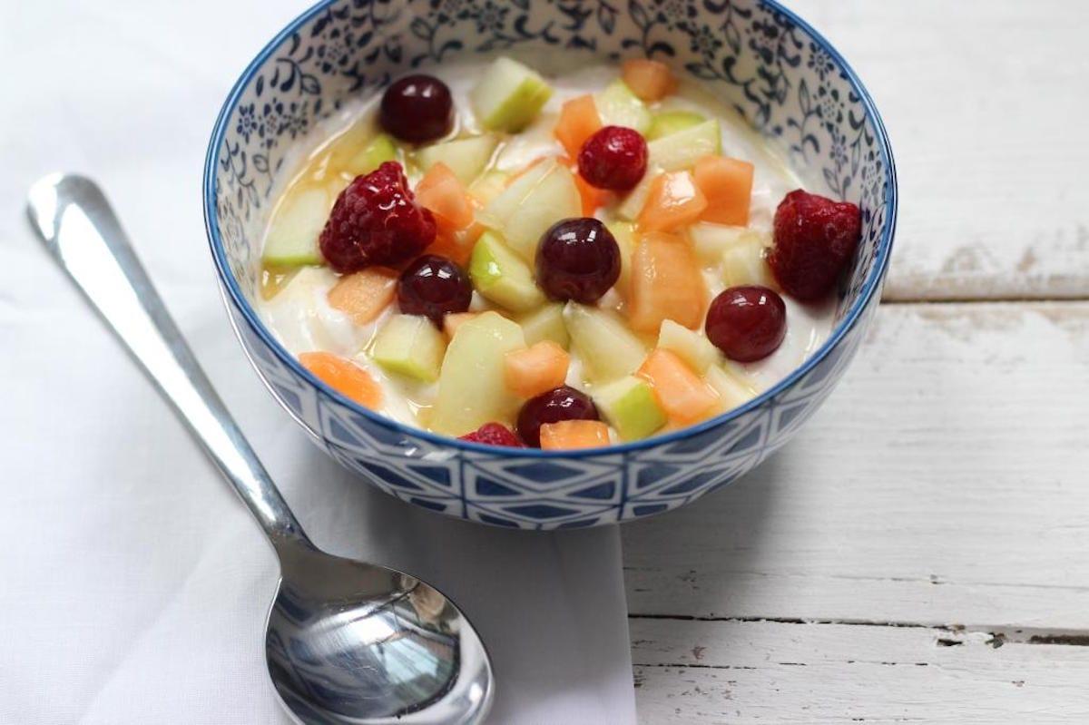 lijnzaad in yoghurt
