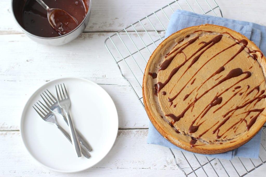 Cheesecake met banaan en chocola