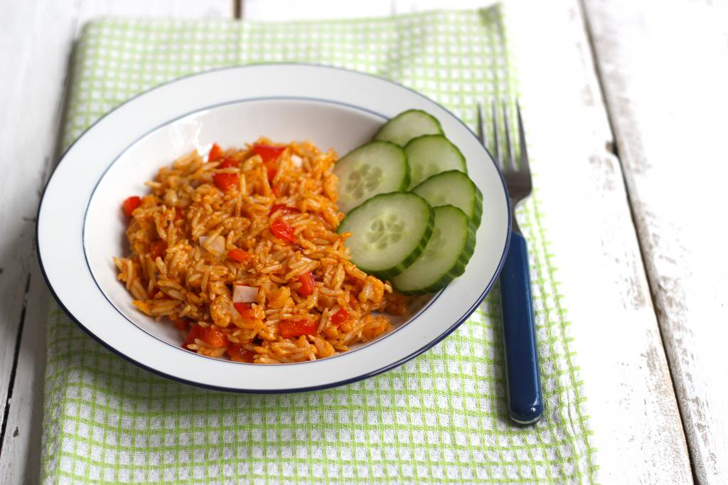 paprika-bloemkoolrijst - lekker en simpel