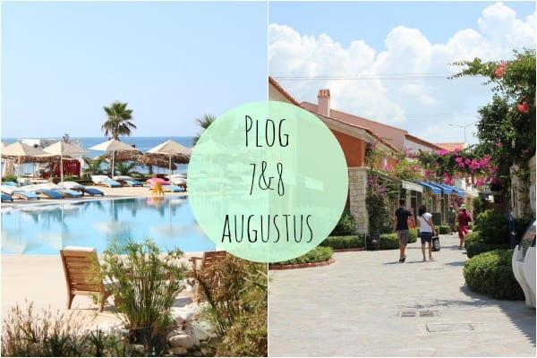 Plog 7 & 8 augustus – vertrek, hotel, Cesme & eten