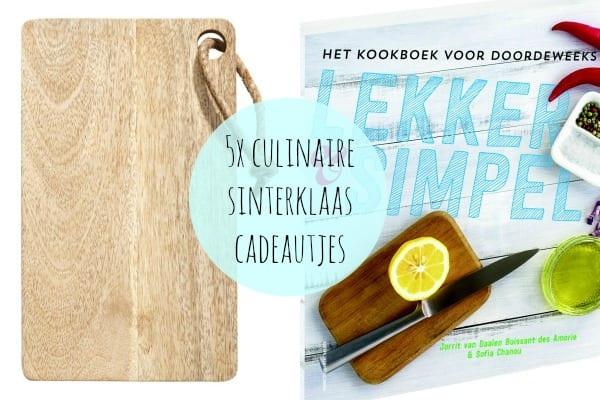 5x culinaire Sinterklaas cadeautjes