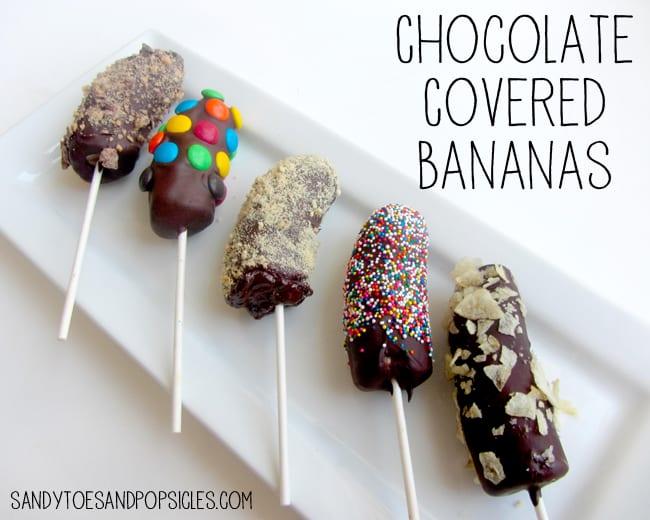 Leuk als traktatie: chocolade banaan pops!. Foto geplaatst