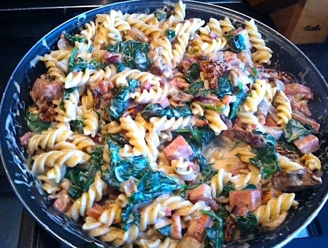 Ingezonden door Marian: pasta met spinazie