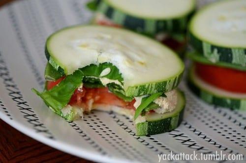 Gezonde komkommer sandwich