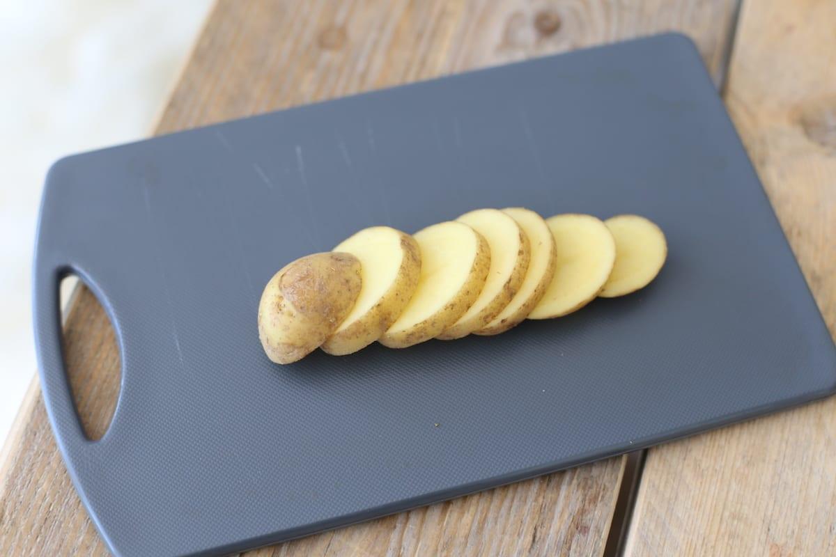 aardappelspiesjes met courgette