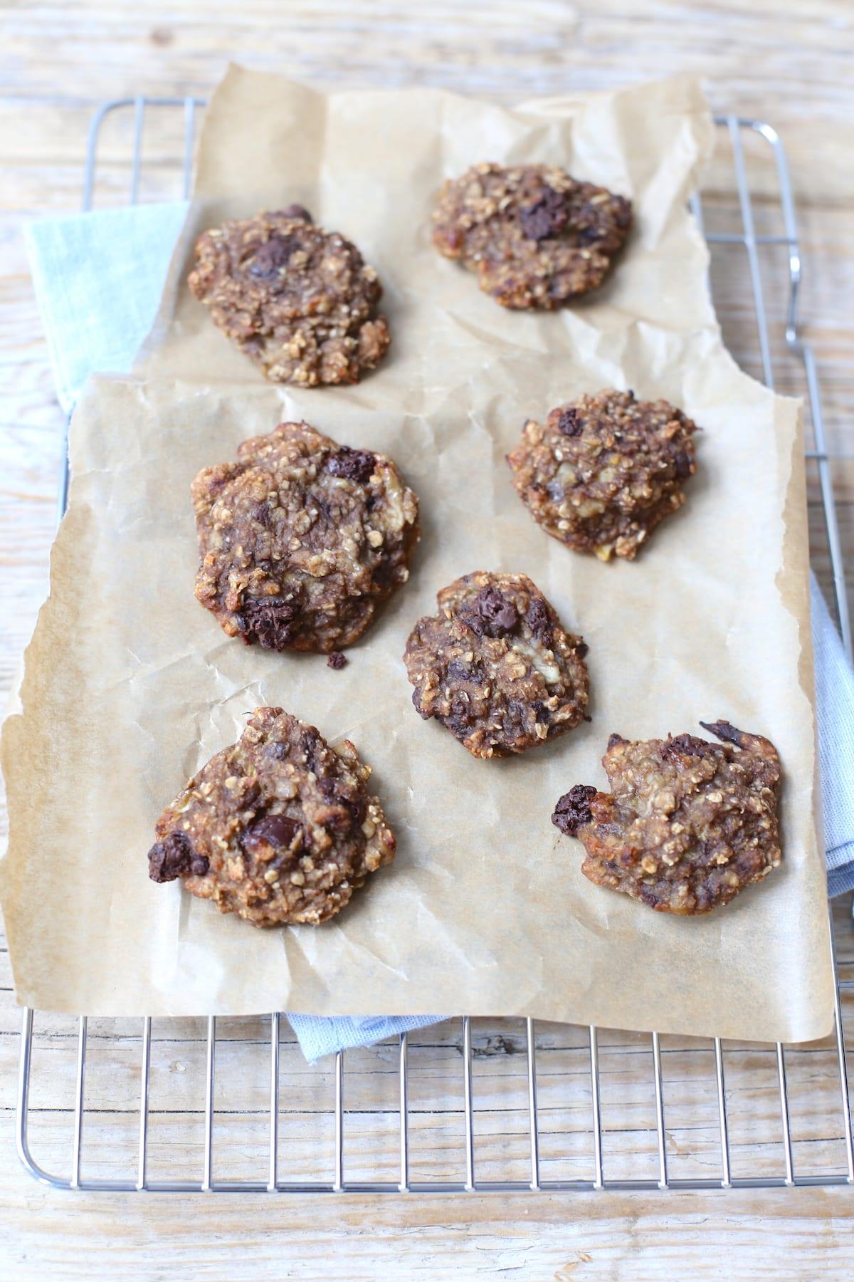 Gezondere koekjes met banaan en chocolade