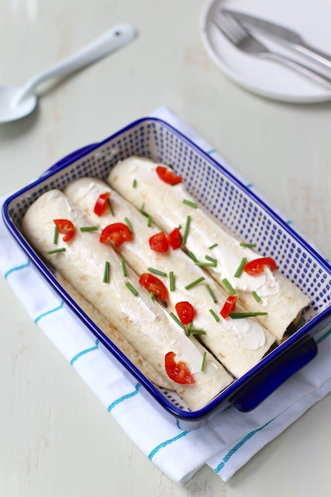 Mexicaanse wraps met zoete aardappel