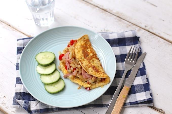 Gevuld omelet met rosti