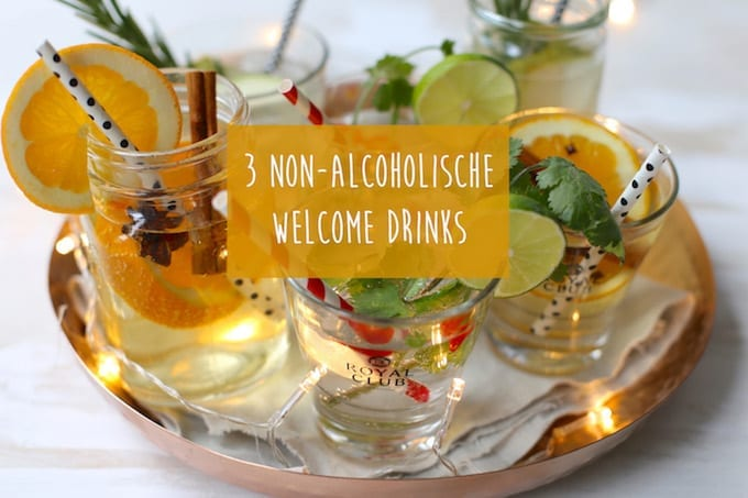 3 feestelijke non-alcoholische Welcome Drinks