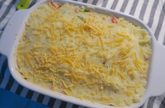 Ovenschotel met witte bonen en paprika