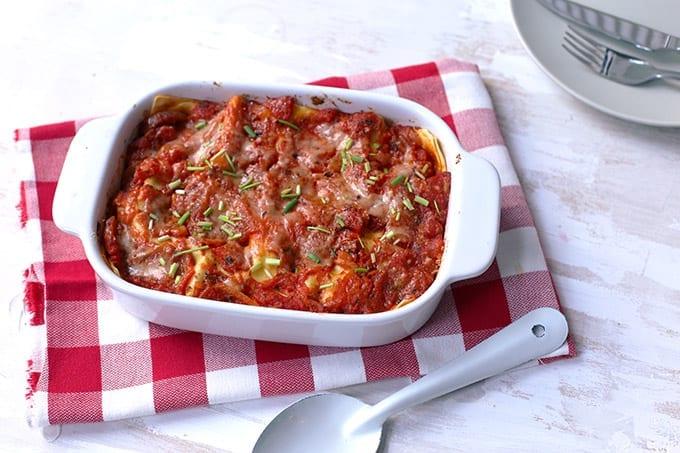 Lasagne met tonijn en mascarpone