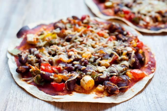 Mexicaanse tortillapizza