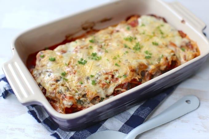 Vegetarische cannelloni met spinazie