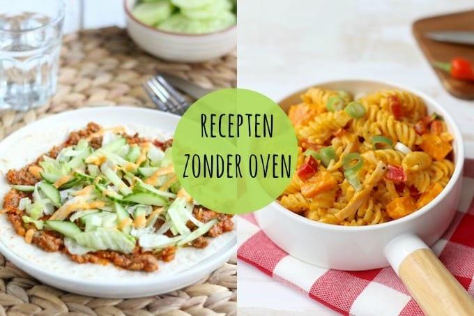 recepten zonder oven