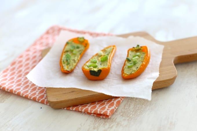 Gevulde oranje paprika