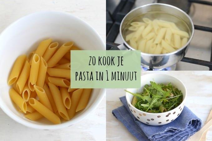 Zo kook je pasta in 1 minuut!