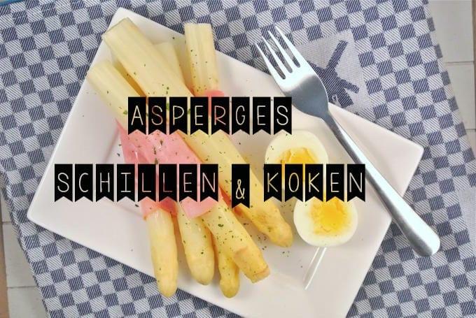 Asperges schillen en koken