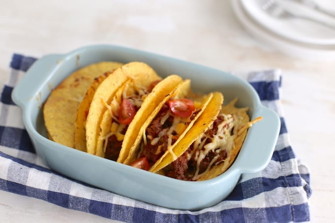 Mexicaanse taco's uit de oven