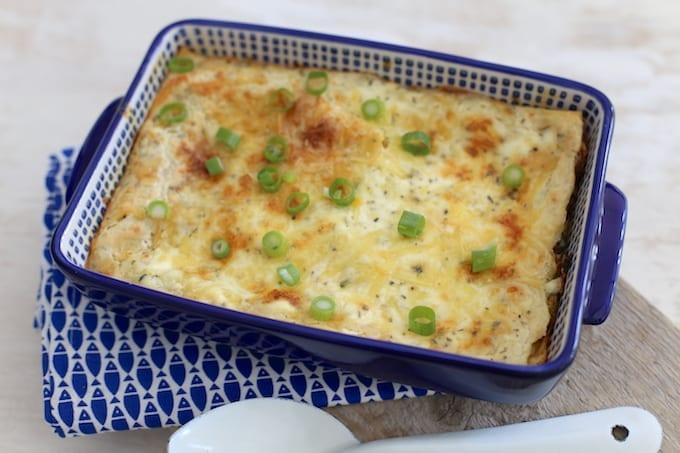 Lasagne met prei en paprika
