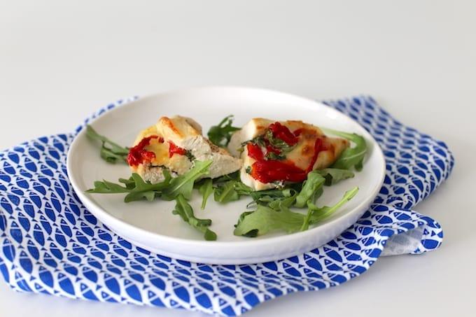 Gevulde kipfilet met mozzarella