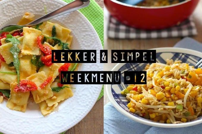 Lekker en Simpel weekmenu #12