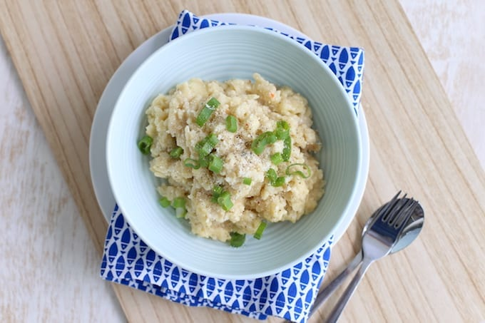 risotto met gorgonzola en peer