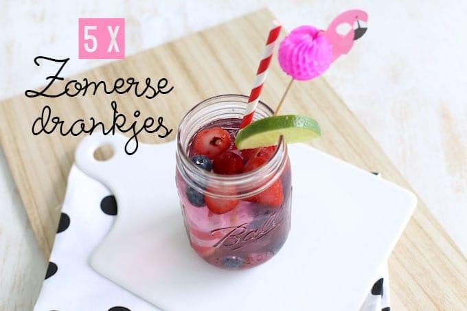 5x zomerse drankjes