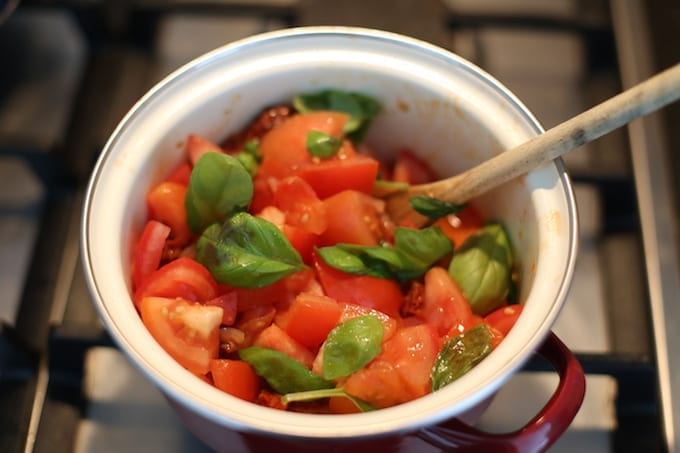 Caprese tomatensoep