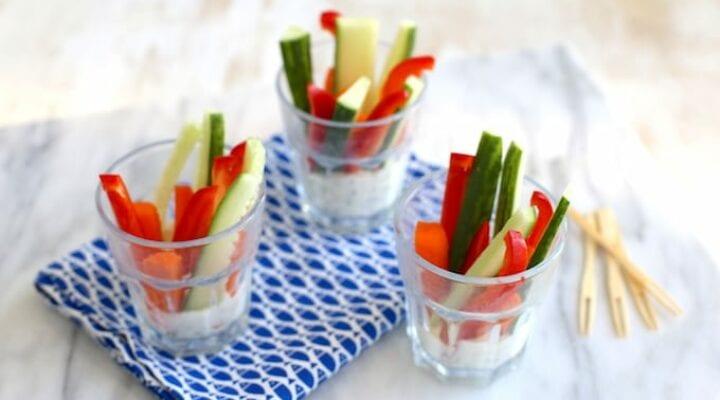 groenten snack met dip