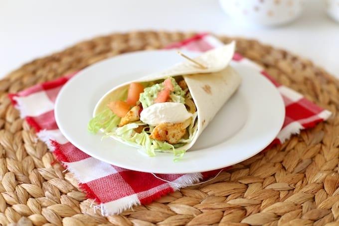 Burrito met kip en rijst