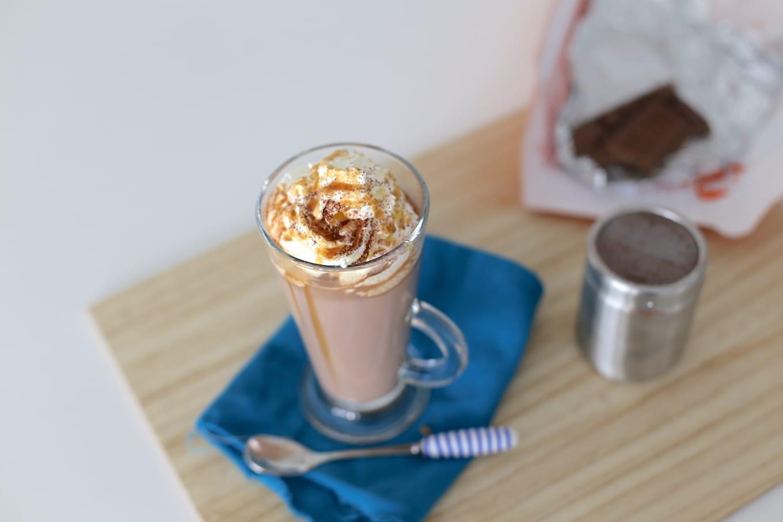 Salted caramel chocolademelk