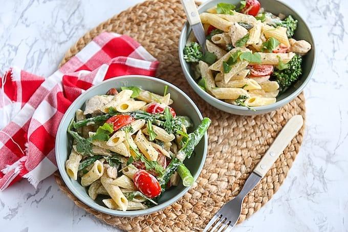 Romige pasta met bimi