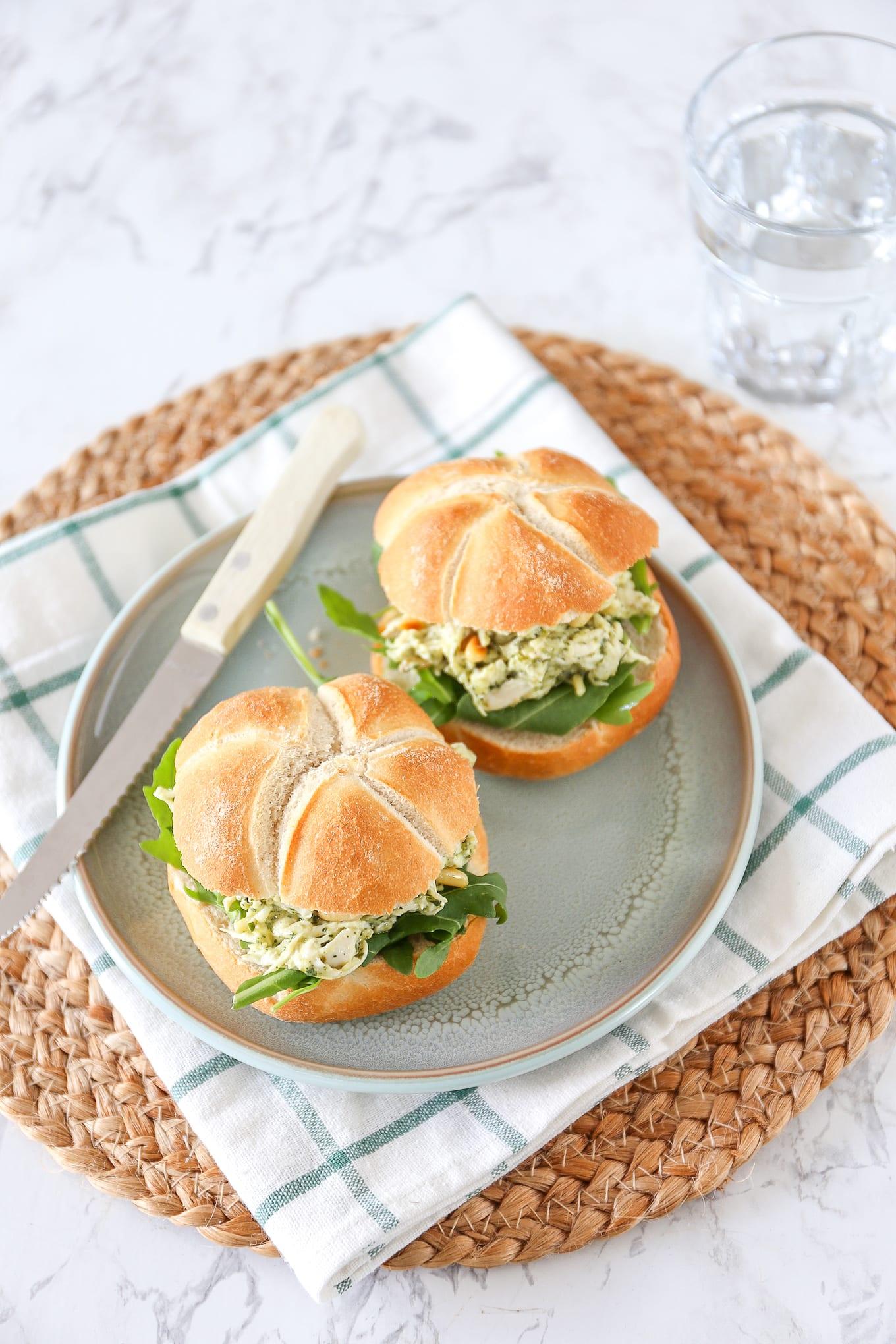Kip-pesto salade