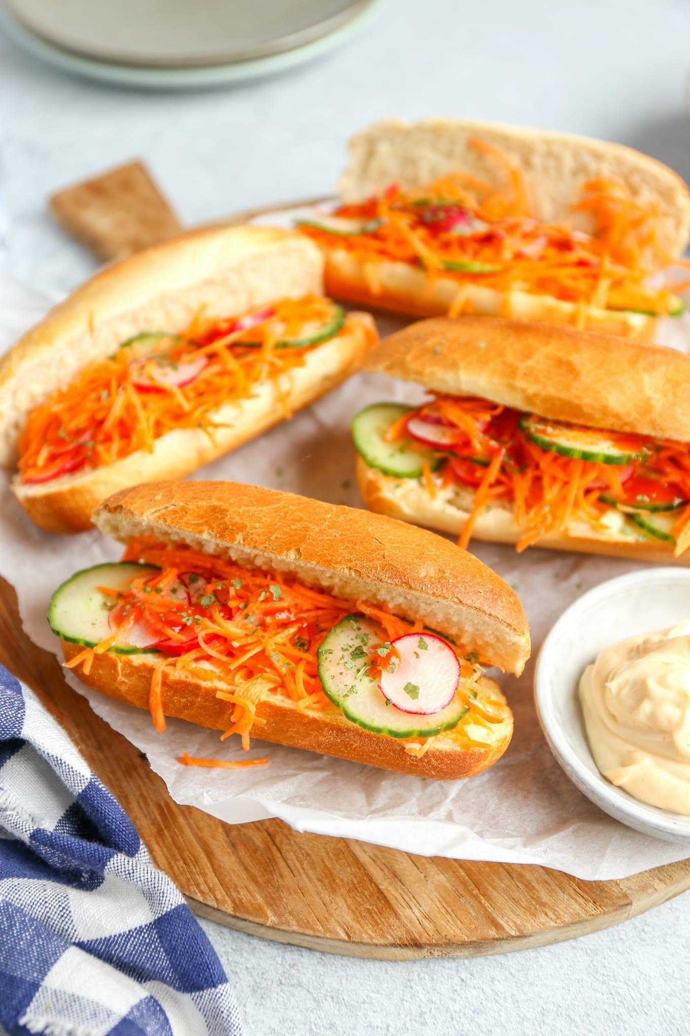Vietnamese broodjes (banh mi)