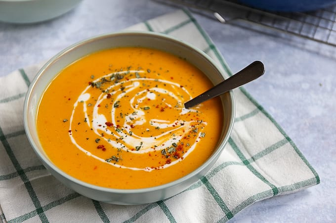 Italiaanse zoete aardappel soep